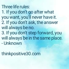 three rules for life