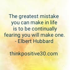 You made a mistake? So What!