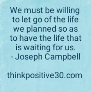 be willing to let go