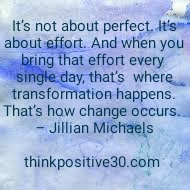 it's about effort